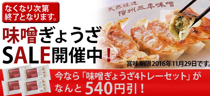 三年味噌餃子セール